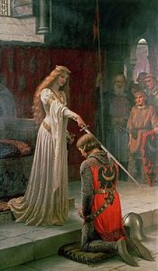 """The Accolade"" by Edmund Blair Leighton (public domain)"
